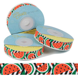 Watermelon Print Fold Over Elastic