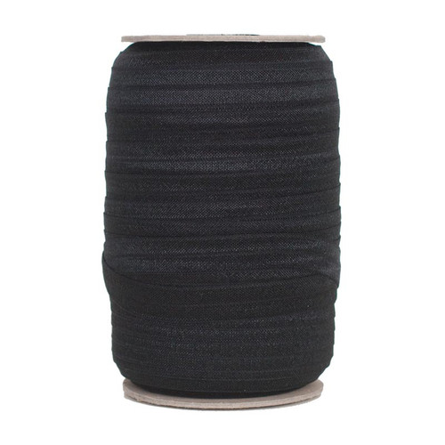 Black Wholesale Fold Over Elastic 100yd