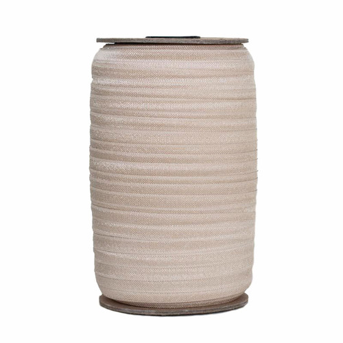 Champagne Wholesale Fold Over Elastic 100yd