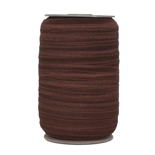 Dark Brown Wholesale Fold Over Elastic 100yd