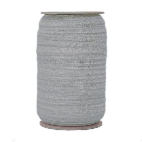 Light Gray Wholesale Fold Over Elastic 100yd