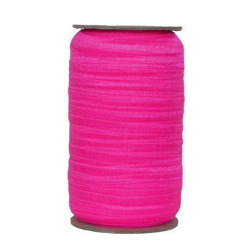 Neon Pink Wholesale Fold Over Elastic 100yd