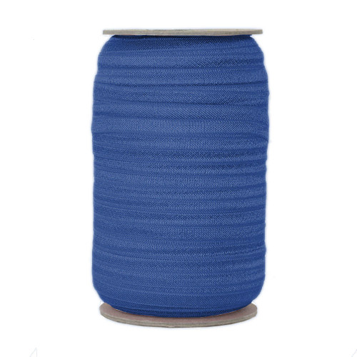 Sapphire Blue Wholesale Fold Over Elastic 100yd