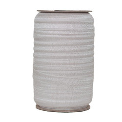 Silver Wholesale Fold Over Elastic 100yd