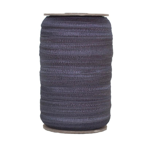Smokey Gray Wholesale Fold Over Elastic 100yd