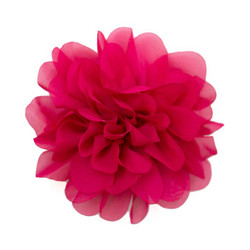 Allison Hot Pink Chiffon Flower