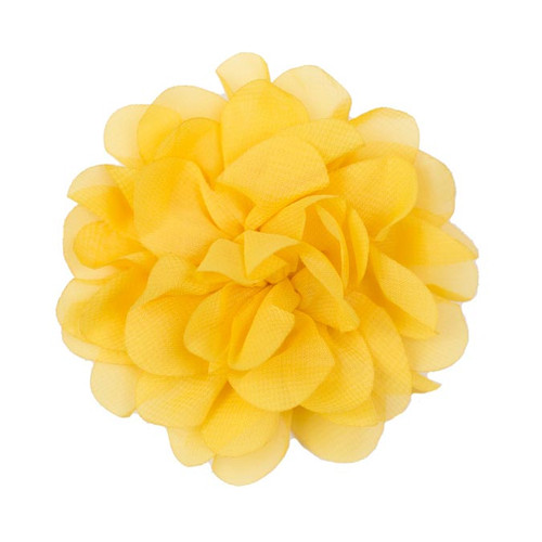 Allison Yellow Chiffon Flower