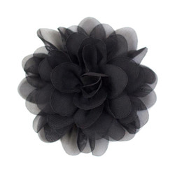 Allison Black Chiffon Flower