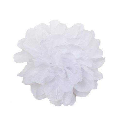 Allison White Chiffon Flower