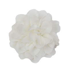 Allison Ivory Chiffon Flower