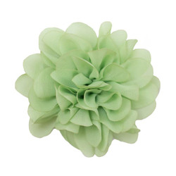 Allison Lime Chiffon Flower