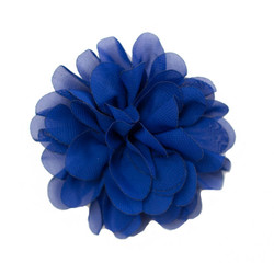 Allison Navy Chiffon Flower
