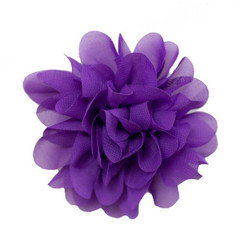 Allison Purple Chiffon Flower