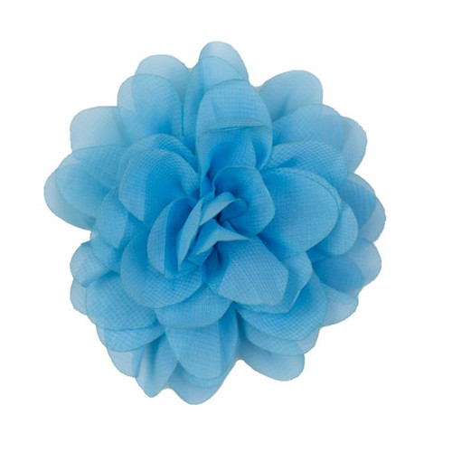 Allison Columbia Blue Chiffon Flower