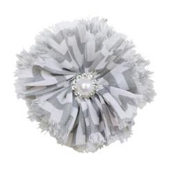 Jennifer Gray Chevron Shabby Chiffon Flower