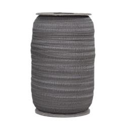 Medium Gray Wholesale Fold Over Elastic 100yd