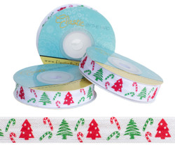 Candy Cane and Christmas Tree Fold Over Elastic