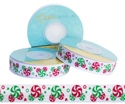 Christmas Peppermint Candy Fold Over Elastic