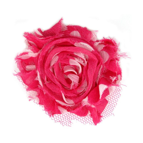 """Hot Pink with White Dots Flower Grace 2"""""""