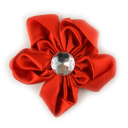 Red Satin Flower 2.5""