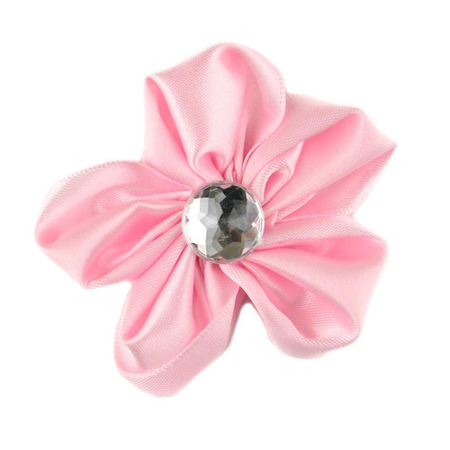 Light Pink Satin Flower 2.5""