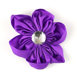 Purple Satin Flower 2.5""