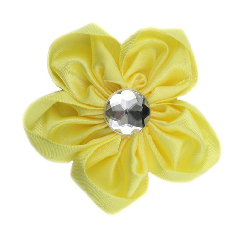 Yellow Satin Flower 2.5""