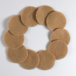 "1 1/4"" Lite Brown NON Adhesive Felt Circles 10 Pack"