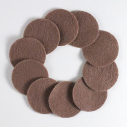 "1 1/4"" Med Brown NON Adhesive Felt Circles 10 Pack"