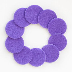 "1 1/4"" Purple NON Adhesive Felt Circles 10 Pack"