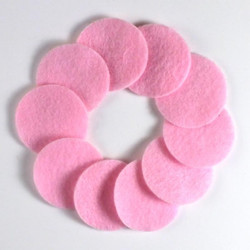 "1 1/4"" Lite Pink NON Adhesive Felt Circles 10 Pack"