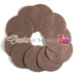 "2 1/2"" Brown NON Adhesive Felt Circles 10 Pack"