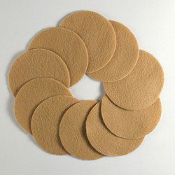 "2 1/2"" Med Brown NON Adhesive Felt Circles 10 Pack"