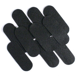 "3 1/2"" Black NON Adhesive Felt Oblongs 10 Pack"