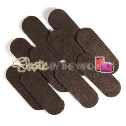 "3 1/2"" Brown NON Adhesive Felt Oblongs 10 Pack"