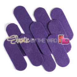 "3 1/2"" Purple NON Adhesive Felt Oblongs 10 Pack"