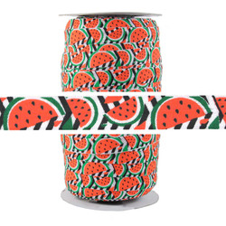 Watermelon Print Fold Over Elastic 100yd
