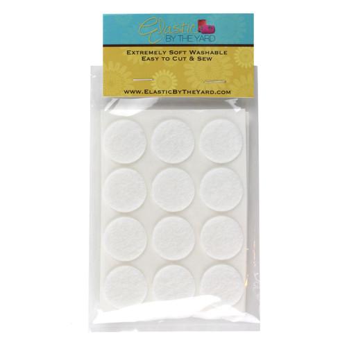 "1"" White Adhesive Felt Circles 48 to 240 Dots"