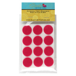 "1"" Hot Pink Adhesive Felt Circles 48 to 240 Dots"