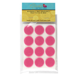 "1"" Medium Pink Adhesive Felt Circles 48 to 240 Dots"