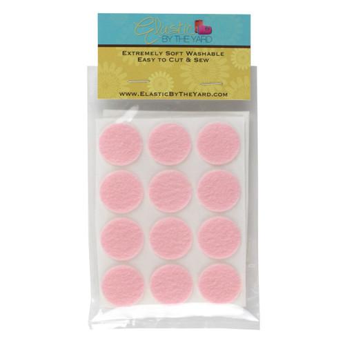 """1"""" Baby Pink Adhesive Felt Circles 48 to 240 Dots"""