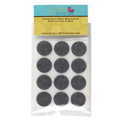 """1"""" Smoke Gray Adhesive Felt Circles 48 to 240 Dots"""