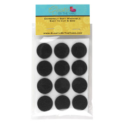 "1"" Black Adhesive Felt Circles 48 to 240 Dots"
