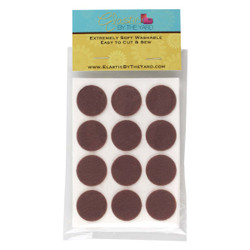 "1"" Walnut Brown Adhesive Felt Circles 48 to 240 Dots"