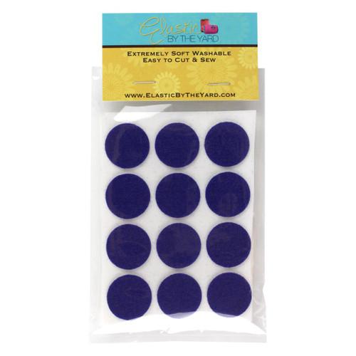 """1"""" Royal Blue Adhesive Felt Circles 48 to 240 Dots"""