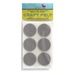 "1 1/2"" Silver Gray Adhesive Felt Circles 48 to 240 Dots"