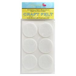 "1 1/2"" White Adhesive Felt Circles 48 to 240 Dots"
