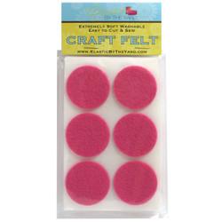 """1 1/2"""" Med Pink Adhesive Felt Circles 48 to 240 Dots"""