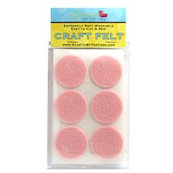 """1 1/2"""" Baby Pink Adhesive Felt Circles 48 to 240 Dots"""