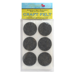"1 1/2"" Smoke Gray Adhesive Felt Circles 48 to 240 Dots"